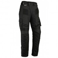 Motorcycle Black Cargo Protective Trousers CE Armour Cordura & Spandex Waterproof Summer Winter Pants