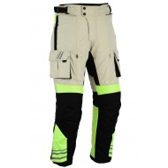 GloRider Hi Vis Waterproof Armoured Motorcycle Trousers CE 1621-1 Removable Armour