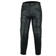Motorcycle Mens Touring Stone Washed Leather Jeans Trousers CE ArmouredS