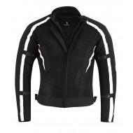 Black Tab Summer Mesh 1621-1 Armour Motorcycle Jacket Black and White Air Mesh Waterproof Liner
