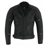 Black Tab Summer Air Mesh 1621-1 Armour Motorcycle Jacket Black Waterproof Liner Jacket