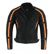 Bikers Gear Black Tab Chicane Motorcycle Summer Mesh Jacket Armoured Waterproof Vented Cordura Orange